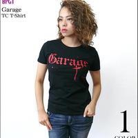 廃盤(在庫限り) sp043tc - Garage(ガレージ) TC Tシャツ -G- ロック バンドTシャツ ブラック かっこいい メンズ レディース