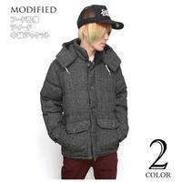 mod2514299 - フード脱着 ツイード 中綿ジャケット - MODIFIED -G-( 防寒 ブルゾン JKT アウター アメカジ )