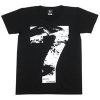 sp038ut - Time Limit(タイムリミット)UネックTシャツ -G- 地球 7分 セブン メッセージ ブラック 黒色 半袖