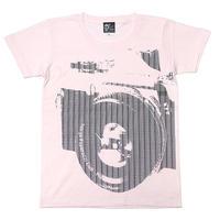 tgw008ut - Tokyo Paparazzi Club UネックTシャツ -G- 半袖 綿 カメラ グラフィック カジュアル アメカジ プリント ピンク
