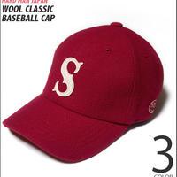 hmj0037-rd - ウール クラシック ベースボール キャップ(レッド)- HARD MAN JAPAN ハードマンジャパン -G- CAP 帽子 アメカジ メンズ レディース