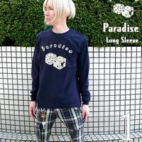 sp041lt - Paradise(パラダイス)ロングスリーブ Tシャツ -G- 長袖Tシャ ツ ロンT メンズ レディース サイコロ アメカジ