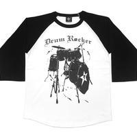 sp045rg - Drum Rocker2 ラグランスリーブTシャツ -G- 7分袖 七分袖 ドラム 楽器 バンド ライブ ロックンロール