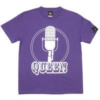 夏セール!! sp003tee-pu - Rock Queen Tシャツ (V.パープル)-G- 半袖 ロックT ロッククイーン ロックンロール 紫色