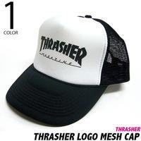 squ6524 - THRASHER LOGO メッシュキャップ -G- ( Punk Rock MESH CAP 帽子 スケーター )