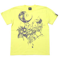 bg019tee-lye - 蠍座ガール (Scorpio Girl) Tシャツ (ライトイエロー) -baster great-G- サソリ さそり座 星座 カジュアル 黄色 半袖