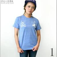 tgw026vt - バニースカル ヴィンテージヘザーTシャツ -G- 半袖 パンク ロック アメカジ メンズ レディース