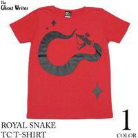 tgw030tc - ロイヤル スネイク TC Tシャツ -G- ヘビ 蛇柄 ROCK ロック アメカジTシャツ カットソー レッド 赤