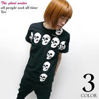 tgw022tee - all people and all time(スカル十字架)Tシャツ -G- ( パンク ロックTシャツ )