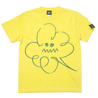 sp061tee-ye - モクモク Tシャツ (イエロー)-G- 半袖 黄色 イラスト 落書き 可愛い 雲 くもり空
