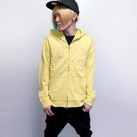 th-0141-lemon - スラブ天竺 W-ZIPパーカー(レモン)Revo.-G-( ジップアップパーカー キレカジ イエロー 黄色 長袖 )