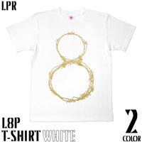 a10tee - L8P Tシャツ (ホワイト&エメラルド) -G- エイト ループ LOOP パンク ロックTシャツ 有刺鉄線
