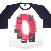 tgw023rg - Gleam 0(ゼロ) ラグランスリーブTシャツ -G- 7分袖 七分袖 カットソー グラフィックデザイン アメカジ カジュアル