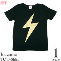 a01tc - イナズマ TC Tシャツ - LPR -G- パンク ロック 稲妻 雷マーク ライジング ブラック 黒色