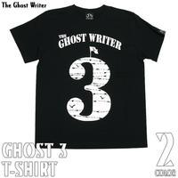 tgw015tee - GHOST 3 Tシャツ (ブラック) - The Ghost Writer -G-( パンク ロックTシャツ ロゴTシャツ 有刺鉄線 )