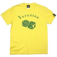 sp041tee-ye - Paradise (パラダイス) Tシャツ (イエロー)-G- サイコロ アメカジ 大きいサイズ 半袖 黄色
