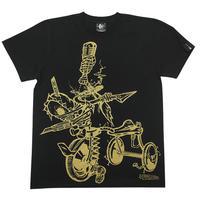 2週間セール!! pi003tee-bk - チャイルドウエポン(サンリンシャ)Tシャツ (ブラック)pornoinvarders -G- 半袖 黒色 スカル パンクロック ハードコア