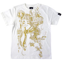 bg010tee - 水瓶座ガール (Aquarius Girl) Tシャツ -G- メンズ レディース 半袖 みずがめ 星座 イラスト 綺麗 かわいい ホワイト 白色 春夏秋
