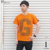 sp037tee-or - ギターのG Tシャツ (オレンジ)-G- 半袖 ロゴT ギター柄 Guitar ロックTシャツ バンドTシャツ