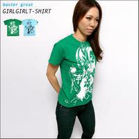 bg002tee - ガールガール Tシャツ - baster great  -G- コラボTシャツ かわいい 可愛い プリント メンズ レディース 半袖