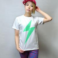 a01tee - イナズマ Tシャツ - LPR -G- パンクロックTシャツ 稲妻 ネオンカラー 蛍光 半袖