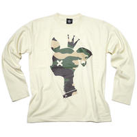 sp088lt - 迷彩 バンビ ロングスリーブTシャツ -BPGT-G- かわいい bambi こじか ロンT 長袖 メンズ レディース カットソー