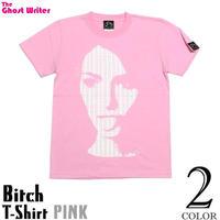 tgw006tee - Bitch ( ビッチ ) Tシャツ (ピンク) -G- パンク PUNK グラフィック デザイン フォトTシャツ 半袖