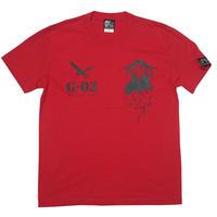 tgw038tee-rd - GP-M Tシャツ ( レッド )-G- 半袖 パンクロックTシャツ 赤色 Tシャツ屋さんバンビ