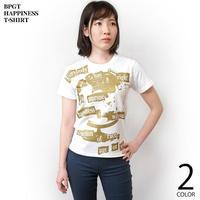 Happiness(ハピネス)Tシャツ (ブラック) hw004tee-wh -G- 半袖 黒色 地球儀 パンクロックTシャツ  のコピー