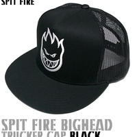 sq1036-bk - SPIT FIRE BIGHEAD TRUCKER CAP(ブラック)-G-( スピットファイヤー スナップバック キャップ ロゴ 帽子 )