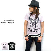 pi001tee - FAIRY Tシャツ - pornoinvarders -G- パンク ロック ROCK PUNK BAMBI バンビ オリジナル- 半袖 -