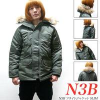af-n3b - N3B フライトジャケット SLIM -G-( 防寒 中綿ブルゾン ミリタリー アウター )
