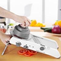 サラダのレシピに 手動野菜カッターツール 簡単厚さ調節