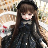 球体関節人形 BJD 1/3・1/4・1/6・ブライス 漆黒ドレス + 髪飾り