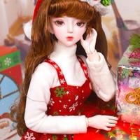 猫娘 メイク 海外製可動ドール クリスマス ver.1  62cm フルセット