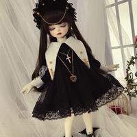 球体関節人形 衣装 BJD 1/4・1/6・ブライス 用 ドレス+帽子 クリスチャン