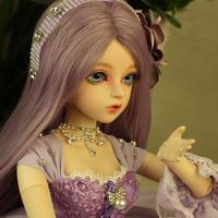 美しい かわいい 球体 関節 人形 BJD 1/3 フルセット グラスアイ 60cm パープルヘアー