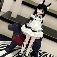 BJD 衣装 1/3・1/4・1/6 人形用 ロリータメイド風 5点