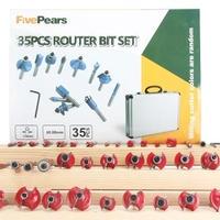 ルータービットセット FivePears 35pcs 8mmプロ仕様