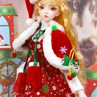 ドール メイク済 可動人形 クリスマス ver.2  62cm フルセット