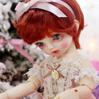 球体関節人形 かわいい BJD 1/6 赤毛の少女 フルセット