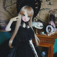 ドール衣装 BJD 1/3・1/4・1/6 人形 ビンテージドレス+帽子