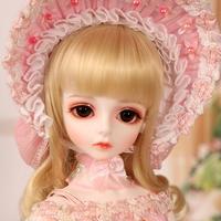 BJD 1/4 球体関節人形 人気 フリル付きドレス フルセット