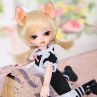 球体関節人形 BJD 1/6 猫耳 doll 17cm フルセット