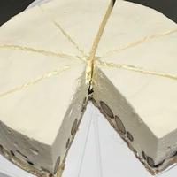 黒豆レアチーズケーキ