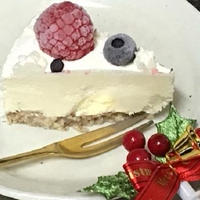 デコレーション・レアチーズケーキ