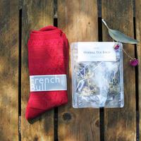 itsumo & sorali : 母の日ギフト socks & herbtea セット A(ピンク)