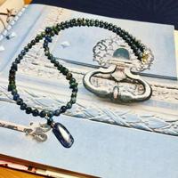 Blue gradation necklace (unisex)