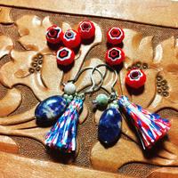 Oval Sodalite earrings