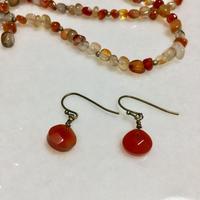 carnerian marron earrings